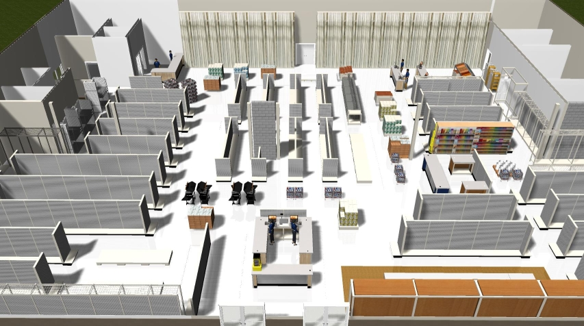 Overview image showing the overall floor layout and visibility.